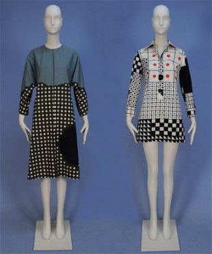 0c2f67b5450a TWO MARIMEKKO PRINTED COTTON DRESSES, 1960's.