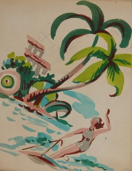 LOT of PAINTED DESIGN SAMPLE BOOKS, 1950's.