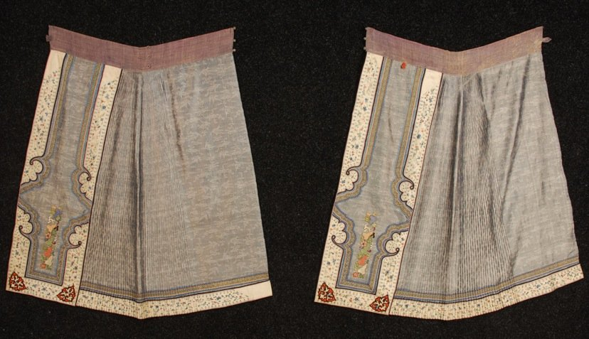 CHINESE SILK EMBROIDERED SUMMER WEDDING SKIRT, EARLY