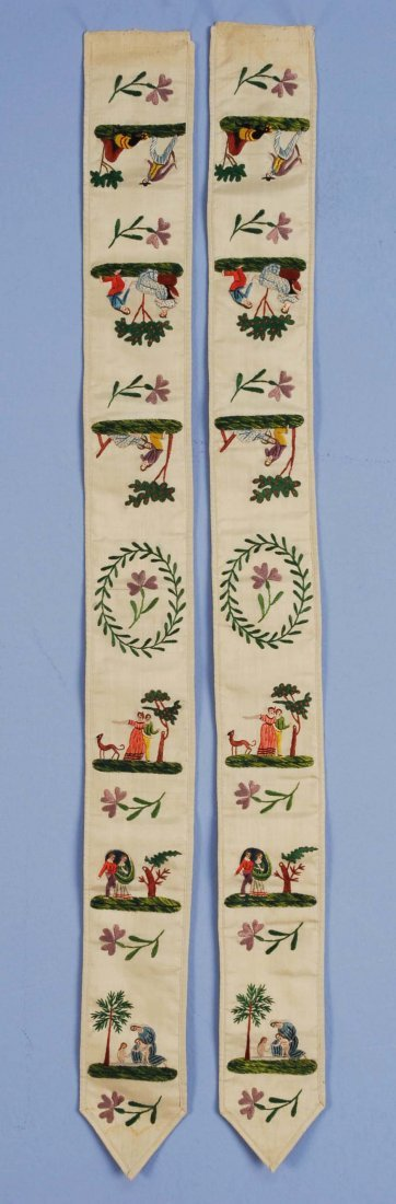 PAUL et VIRGINIE FIGURAL EMBROIDERED BRACES with
