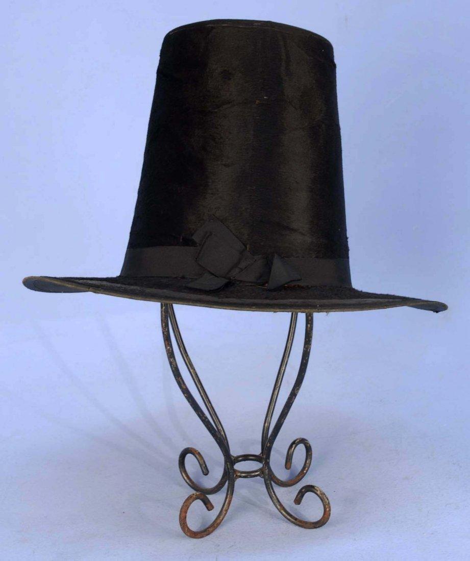 BRITISH GENT'S TALL HAT, 18th C.