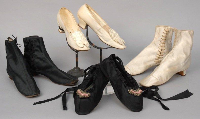 LOT of LADIES' FOOTWEAR, 1860's and 1870's.