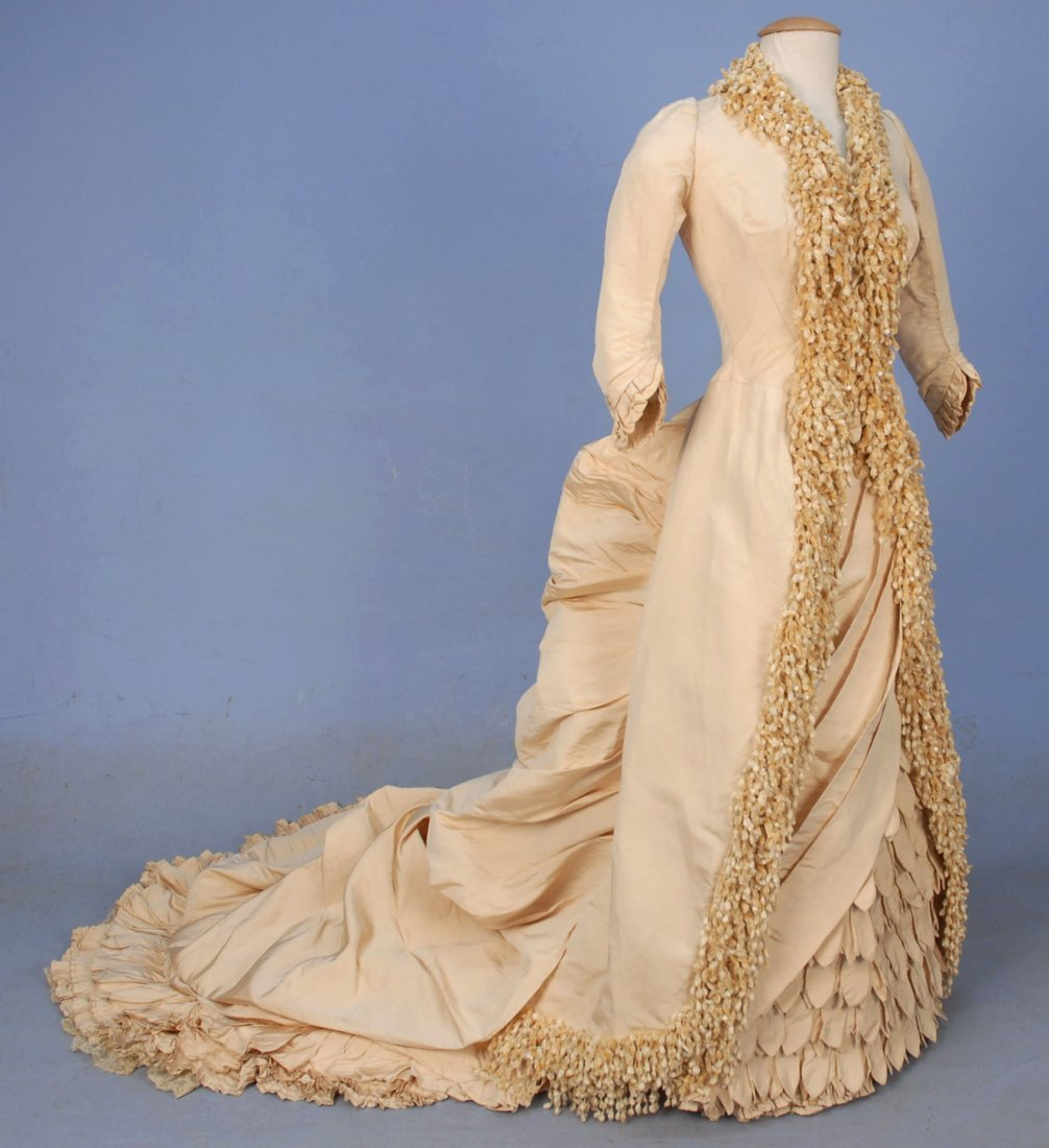 PARIS LABEL WINTER WEDDING GOWN and ACCESSORIES, 1883.