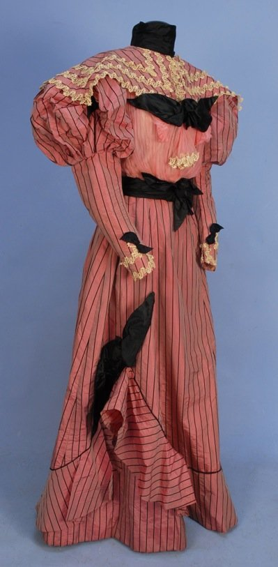 CHANGEABLE SILK AFTERNOON GOWN, 1890's.