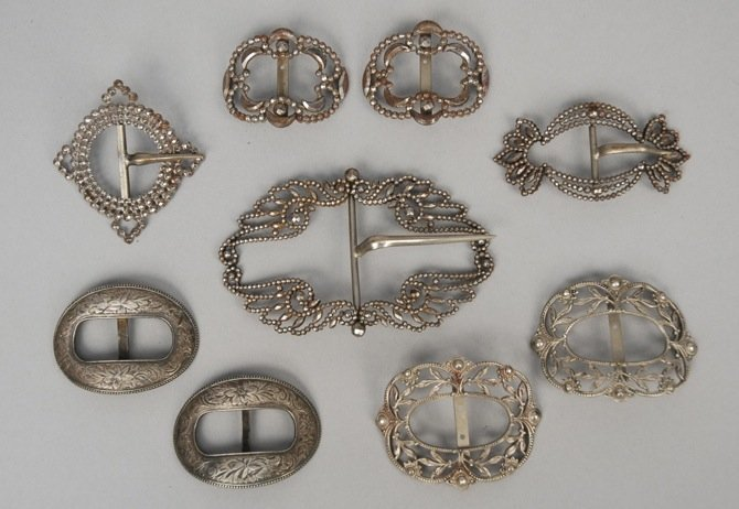 LOT of CUT STEEL BUCKLES,  LATE 19th - EARLY 20th C.