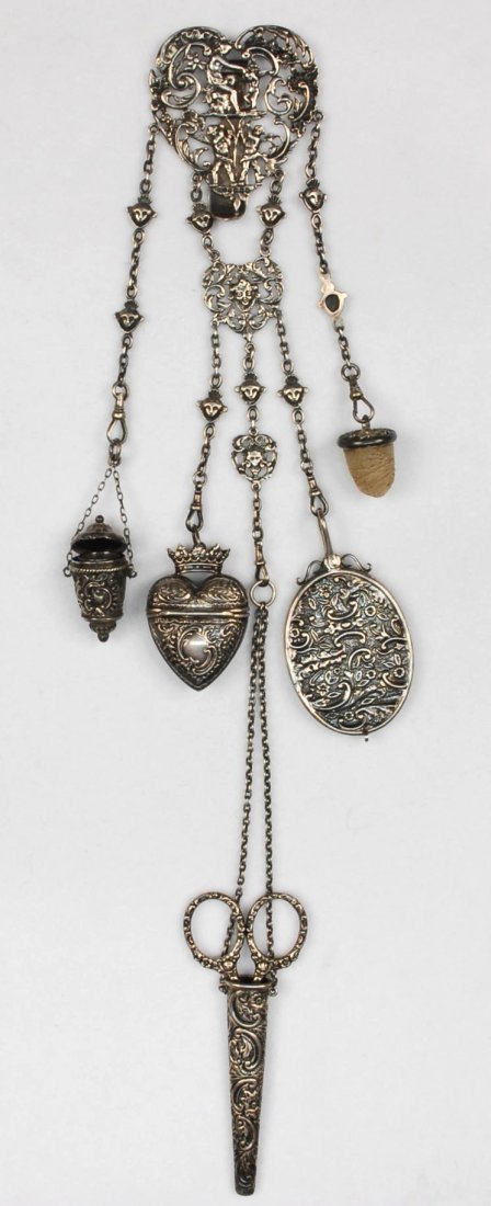 English sterling silver sewing chatelaine birmingham for Sell jewelry birmingham al