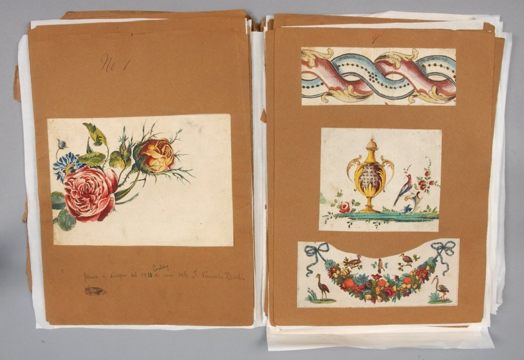 ORIGINAL ART DESIGNS for FABRICS, 1811 or EARLIER.