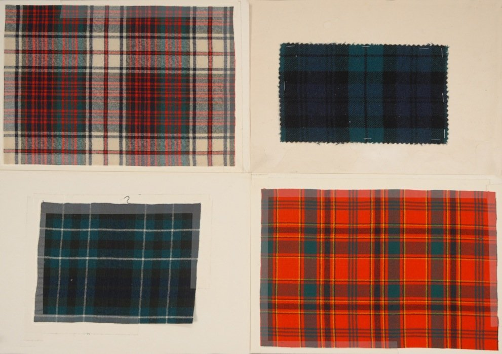 LARGE LOT of TARTAN PLAIDS, 19th C.