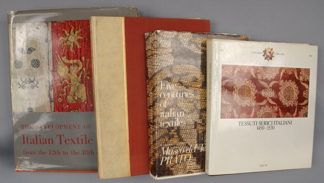 FOUR VOLUMES on ITALIAN TEXTILES.