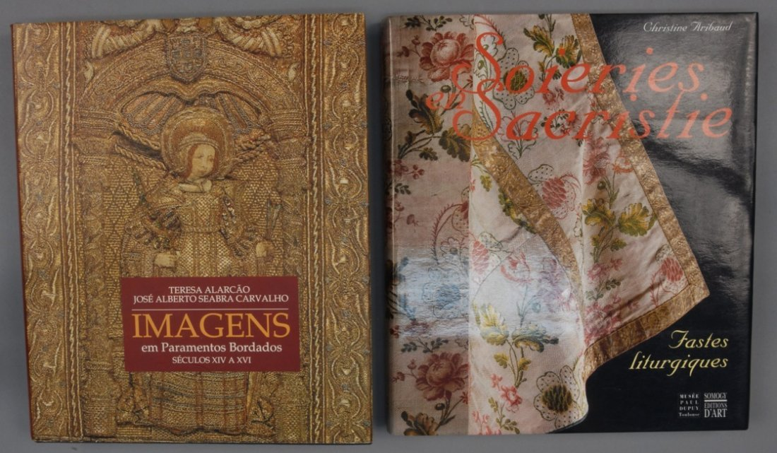 TWO VOLUMES on ECCLESIASTICAL TEXTILES.