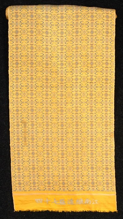 CHINESE SILK BROCADE YARDAGE, 19th - 20th C.