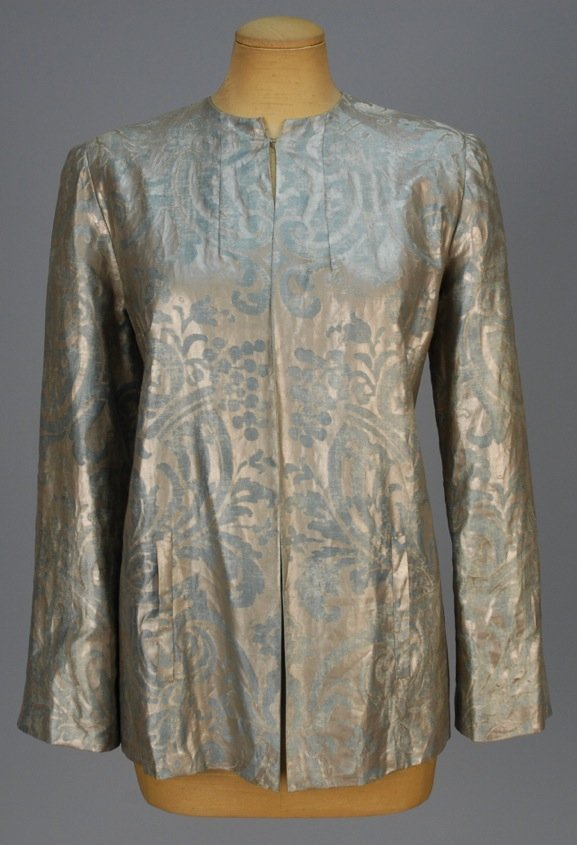 MARIANO FORTUNY STENCILED EVENING JACKET, c. 1940.