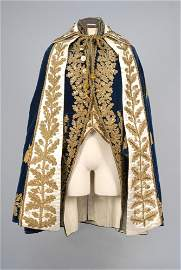 GENTS FRENCH METALLIC EMBROIDERED COURT COAT, WAISTCOAT