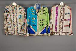 THREE PUCCI PRINTED SILK BLOUSES 1970s All long
