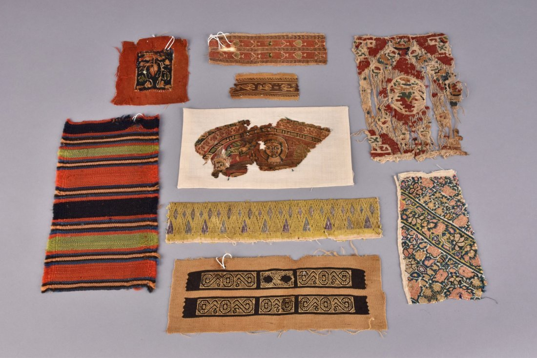 LOT of COPTIC and ETHNIC WOVEN TEXTILE FRAMENTS, 4th -
