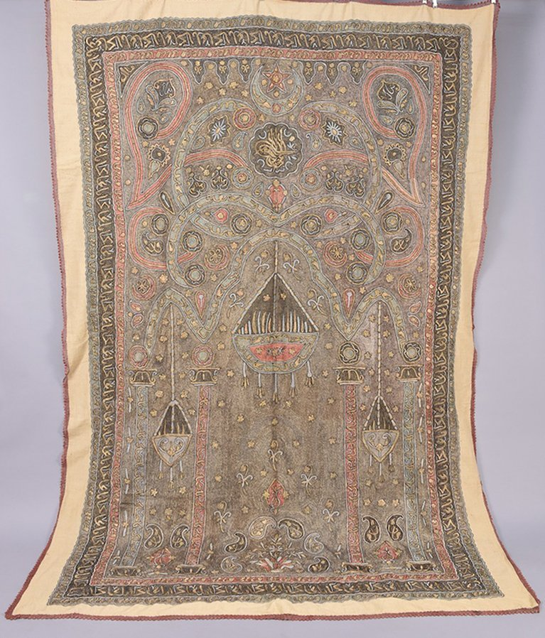 TURKISH EMBROIDERED MIHRAB, Early 20th C