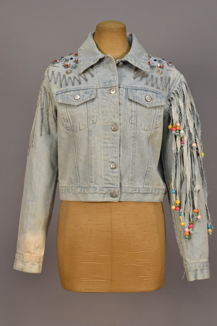 STELLA McCARTNEY for CHLOE DISTRESSED DENIM JACKET,
