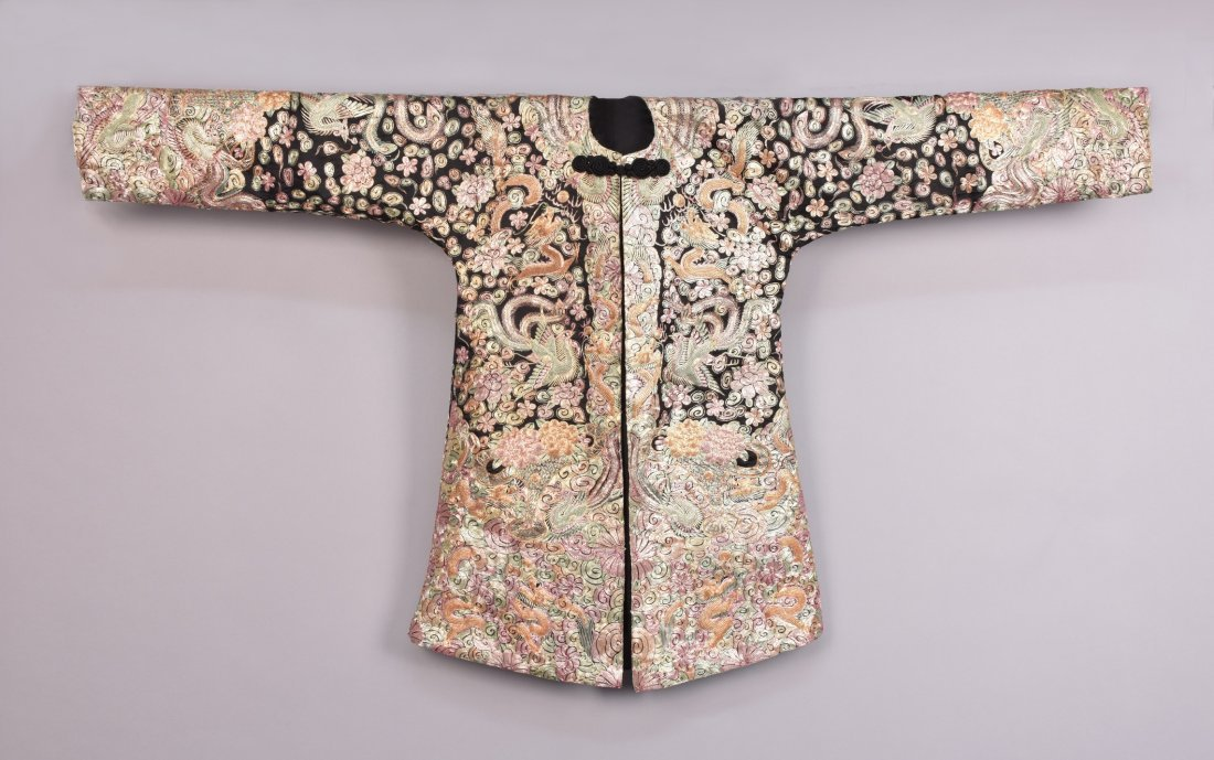 LADYS CHINESE METALLIC EMBROIDERED JACKET, MID 20th C.