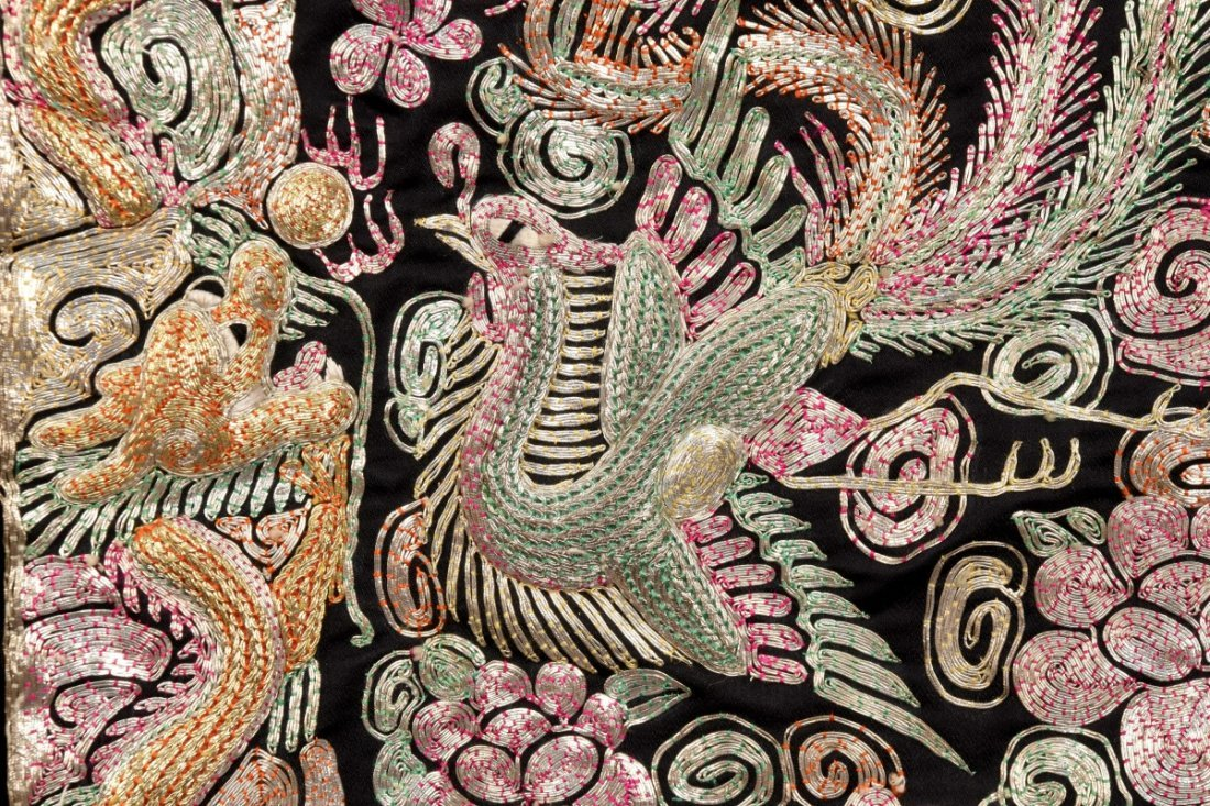 LADYS CHINESE METALLIC EMBROIDERED JACKET, MID 20th C. - 3