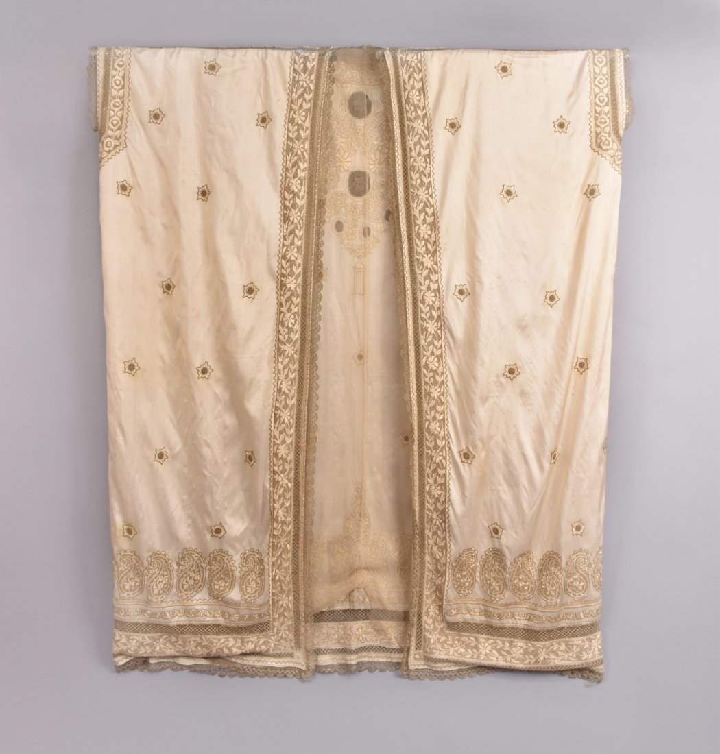 MIDDLE EASTERN SILK and METALLIC CAFTAN,  MID 20th C