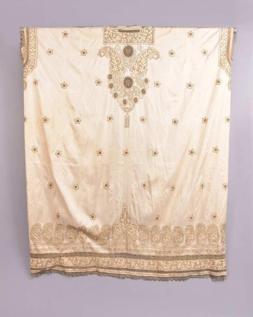 MIDDLE EASTERN SILK and METALLIC CAFTAN,  MID 20th C - 5