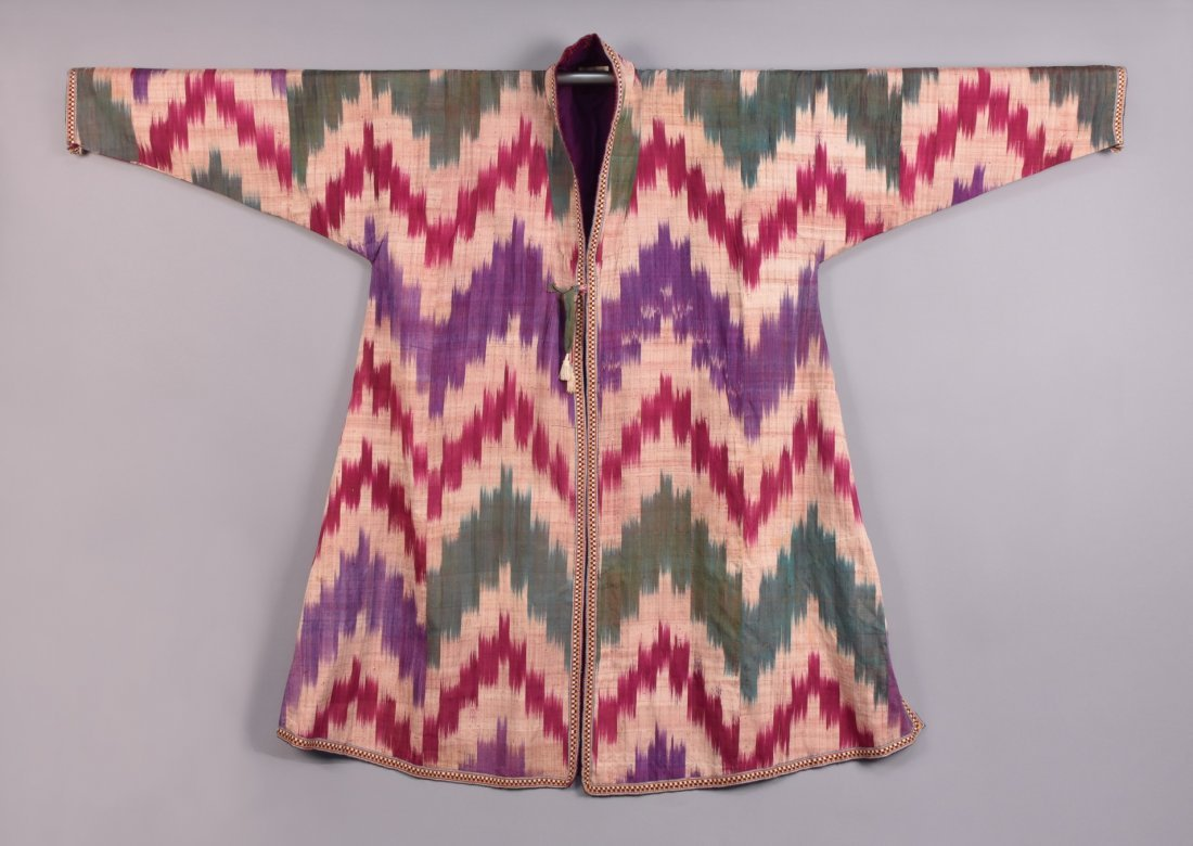 SILK IKAT ROBE, IRAN, 20th C