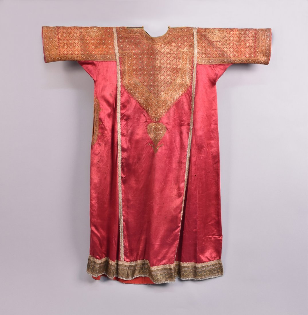 MIDDLE EASTERN METALLIC EMBROIDERED ROBE, EARLY 20th C