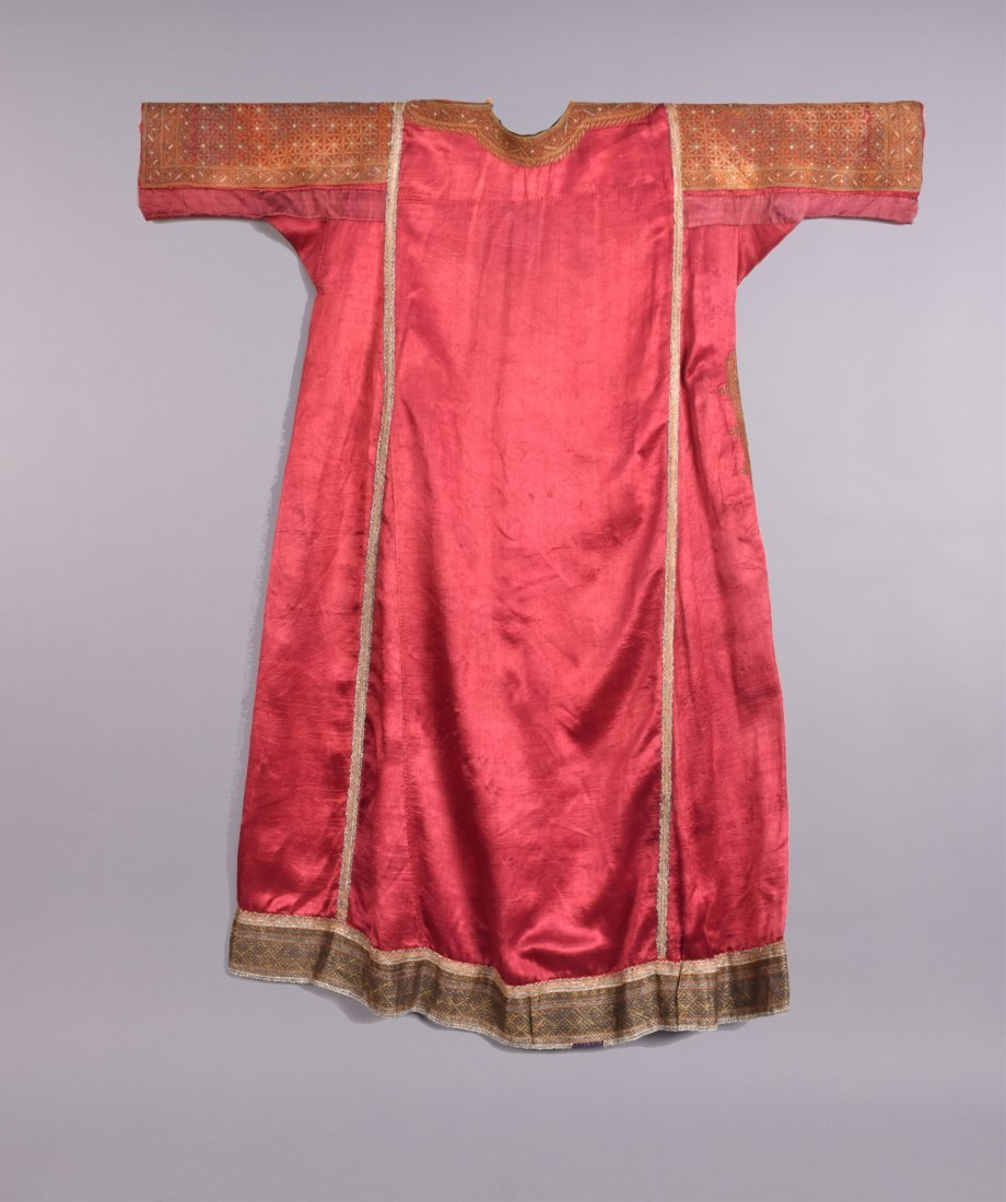 MIDDLE EASTERN METALLIC EMBROIDERED ROBE, EARLY 20th C - 4