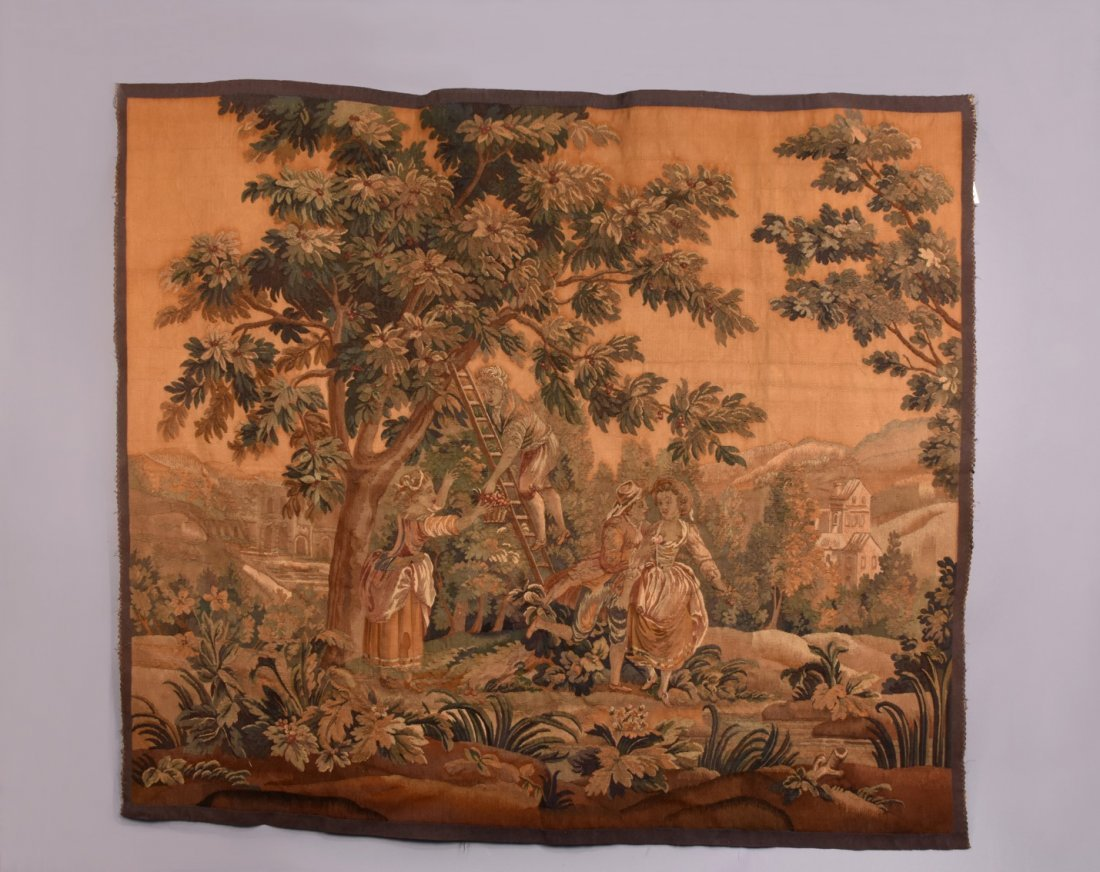 AUBUSSON WOOL TAPESTRY, 19th C