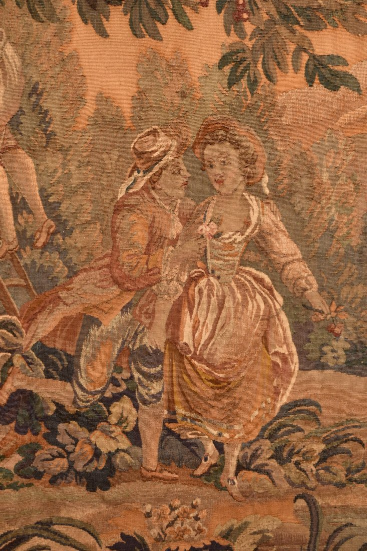 AUBUSSON WOOL TAPESTRY, 19th C - 2