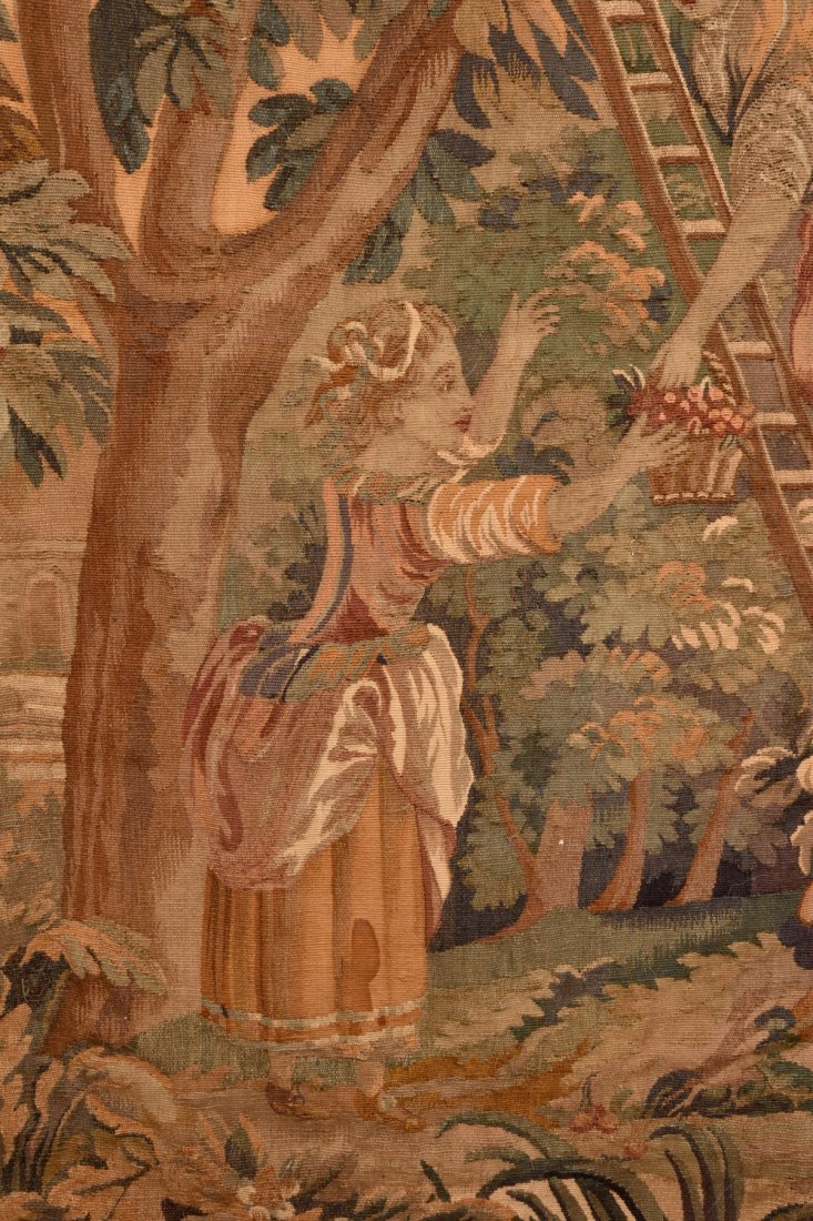 AUBUSSON WOOL TAPESTRY, 19th C - 3