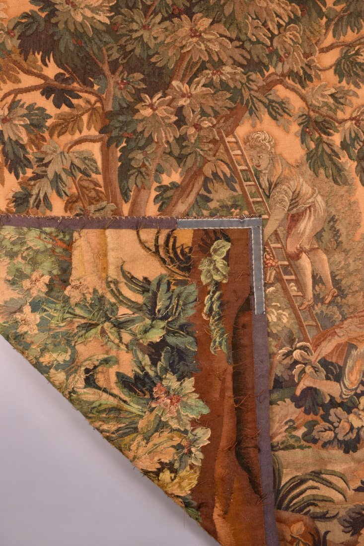 AUBUSSON WOOL TAPESTRY, 19th C - 4