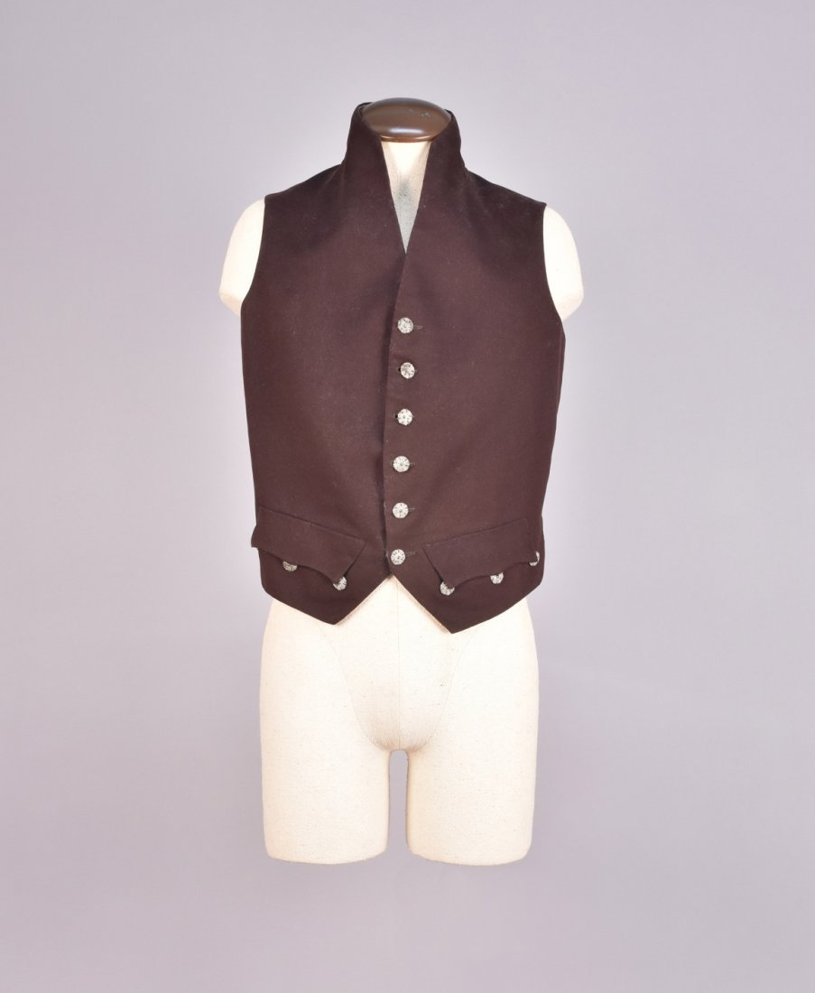 GENTS WOOL COURT COAT and WAISTCOAT, 19th C. - 3