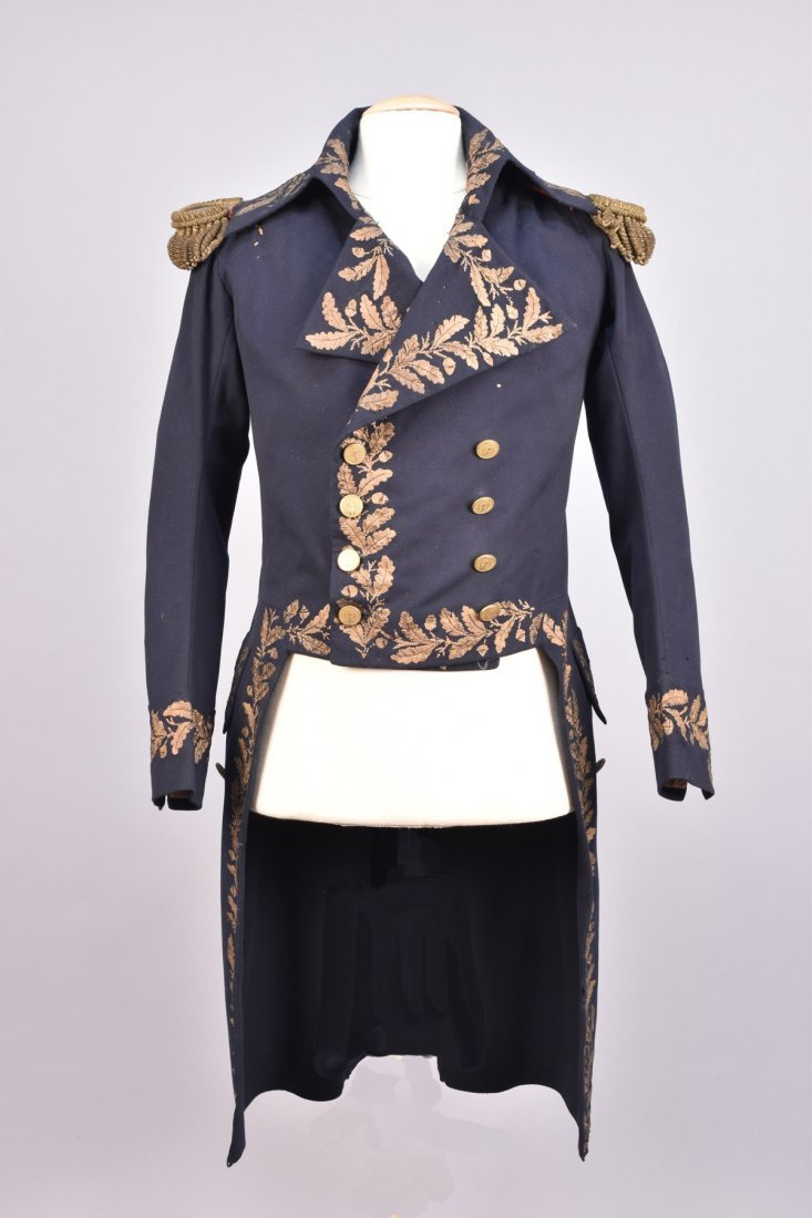 FRENCH OFFICER'S UNIFORM COAT, 19th C.
