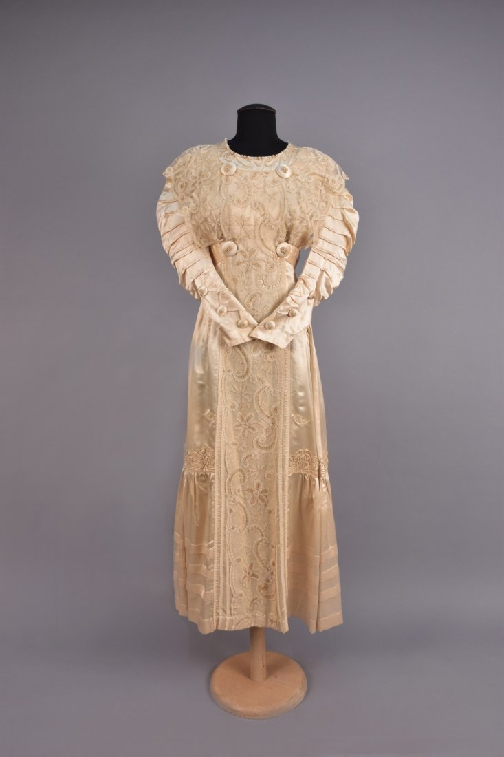 EDWARDIAN SATIN and LACE DRESS with SOUTACHE