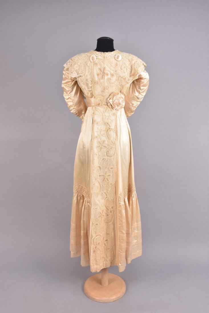 EDWARDIAN SATIN and LACE DRESS with SOUTACHE - 2