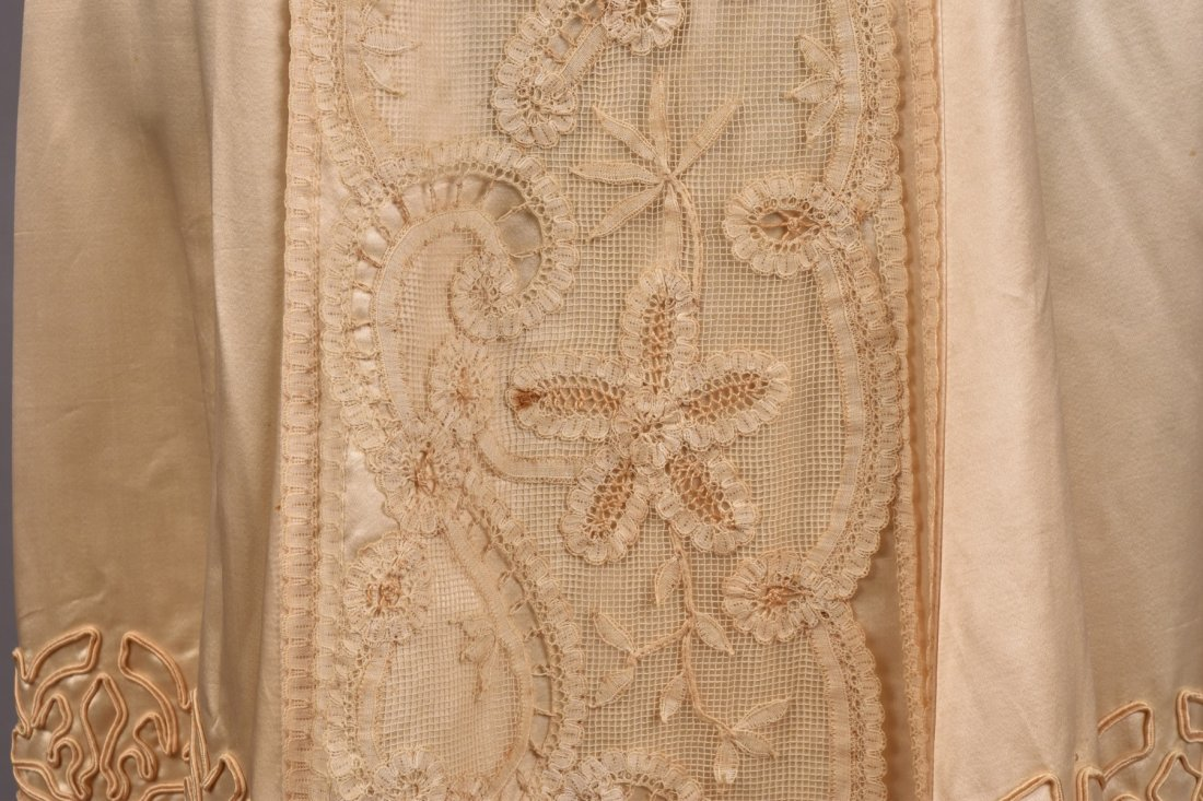 EDWARDIAN SATIN and LACE DRESS with SOUTACHE - 3
