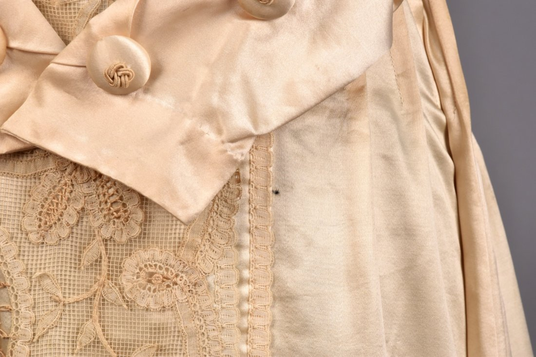 EDWARDIAN SATIN and LACE DRESS with SOUTACHE - 4
