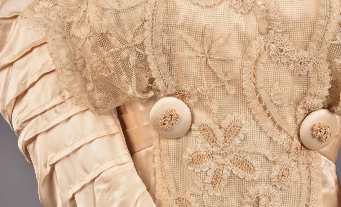 EDWARDIAN SATIN and LACE DRESS with SOUTACHE - 5
