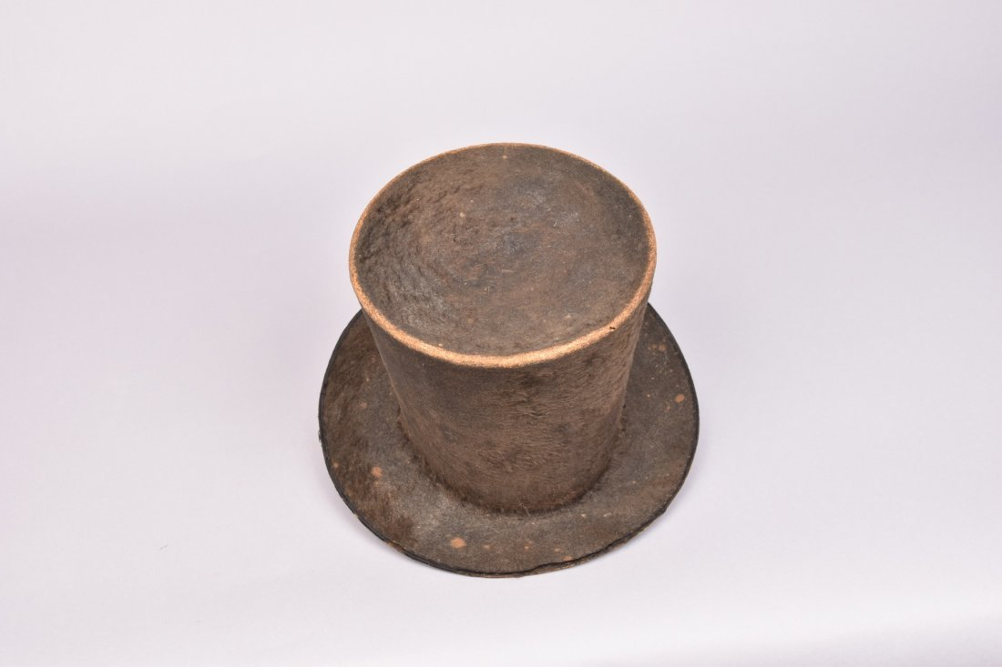 GENTS WOOL TOP HAT, ENGLAND, 1820-1830 - 2