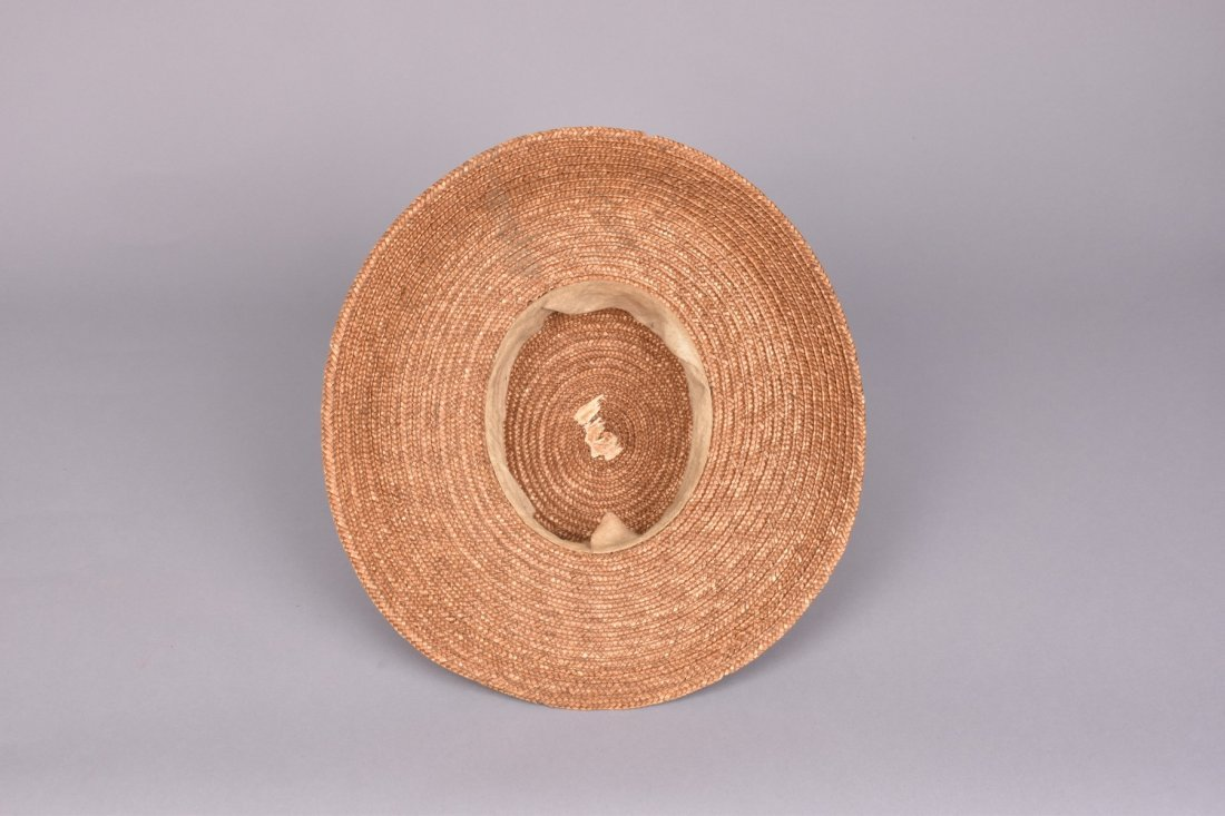 BRAIDED STRAW WIDE-BRIM HAT, 19th C. - 3