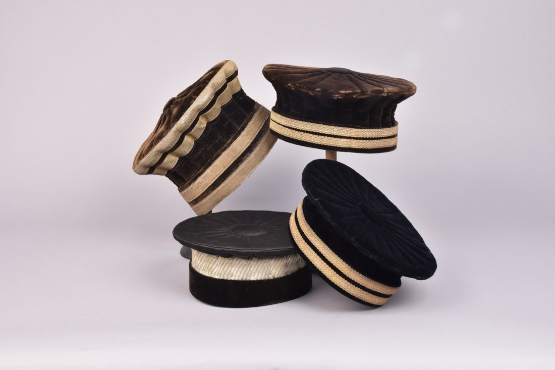 THREE FRENCH MUNICIPAL OFFICIAL HATS, 19th -EARLY 20th