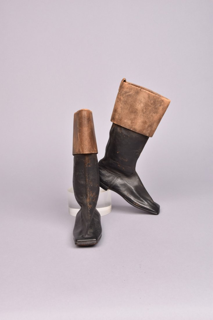 CHILDS or SALESMAN SAMPLE BOOTS, MID 19th C.