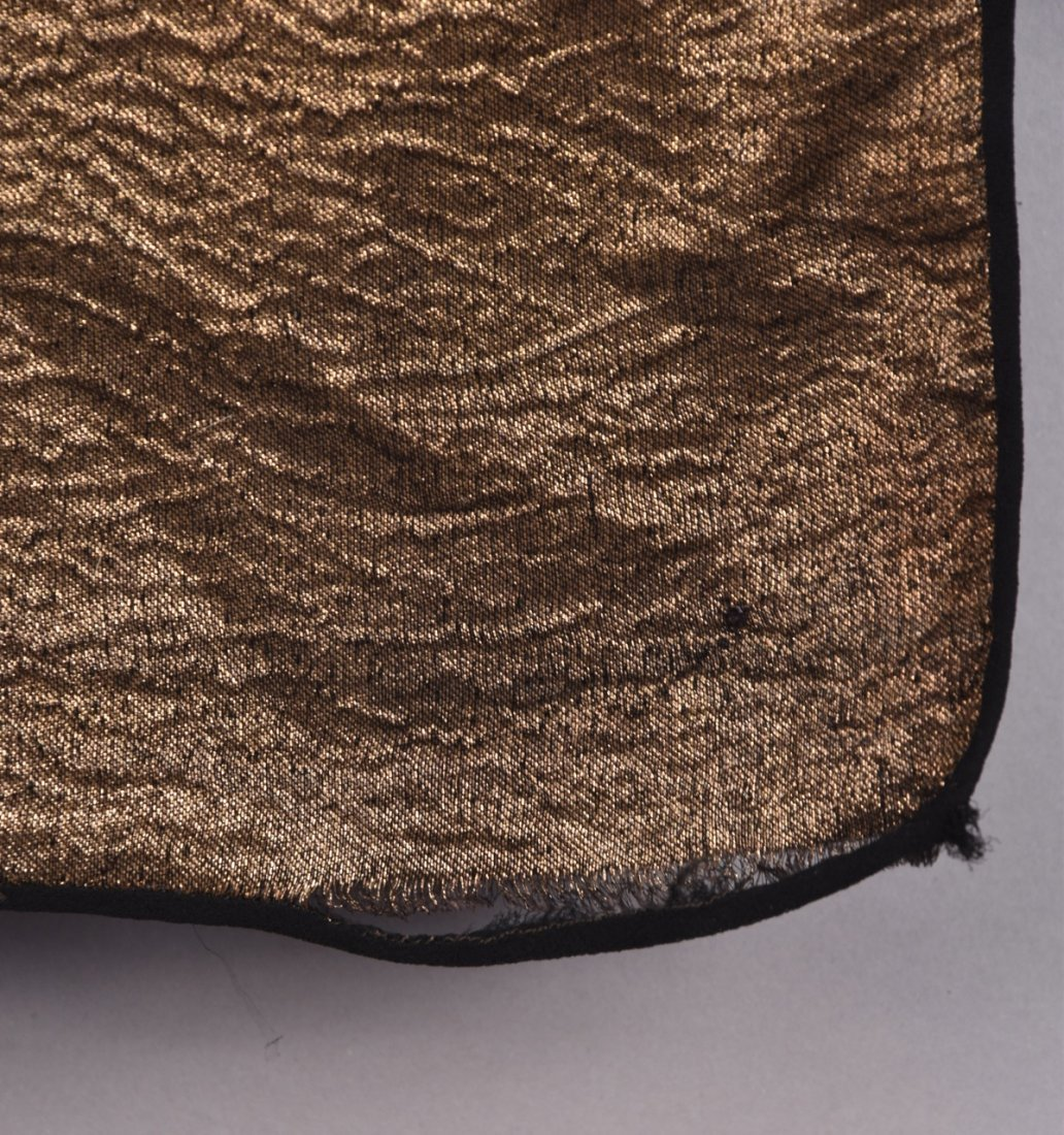 ART DECO GOLD LAME SHAWL with BIRDS. - 6