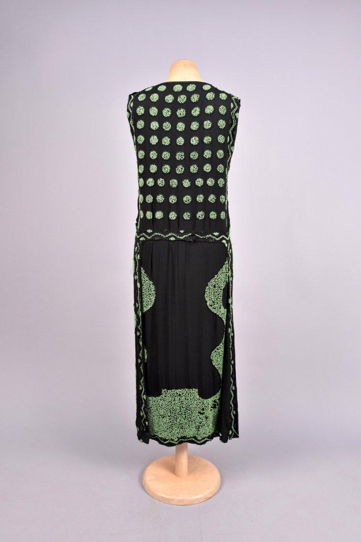 DECO BEADED DINNER DRESS, 1920s. - 2