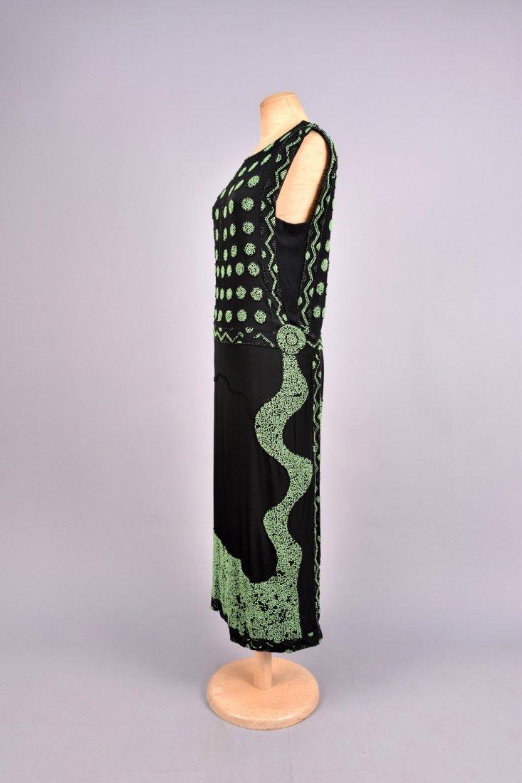 DECO BEADED DINNER DRESS, 1920s. - 3