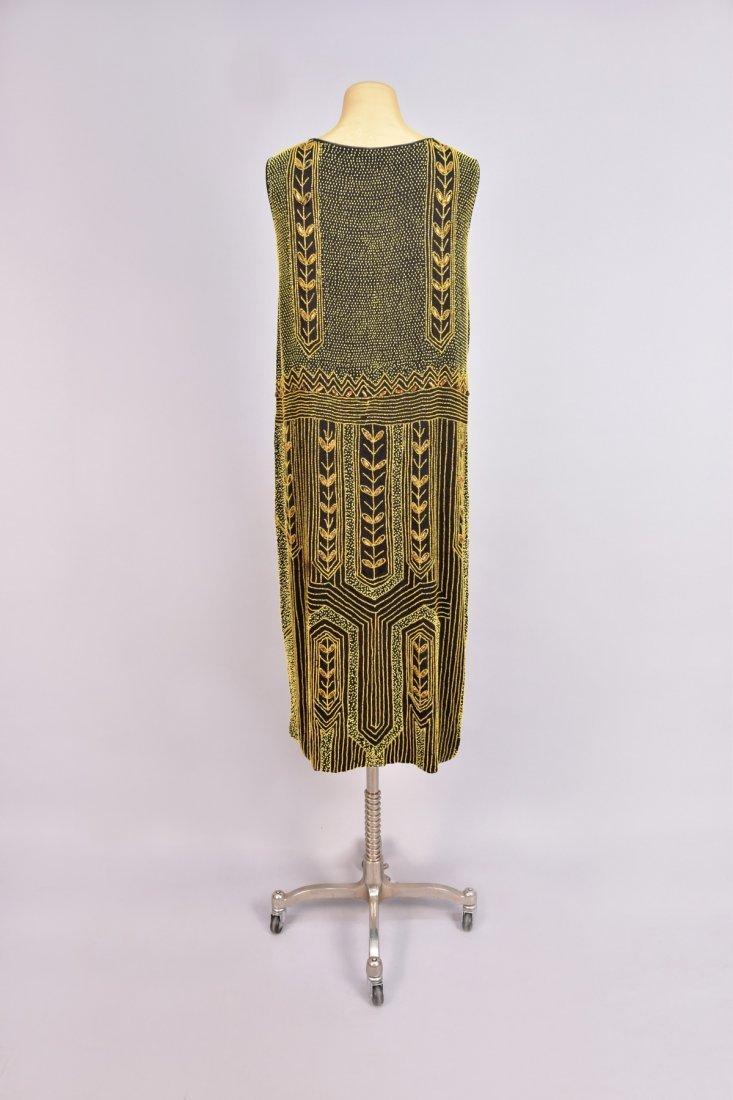 BEADED CREPE DINNER DRESS, 1920s - 2
