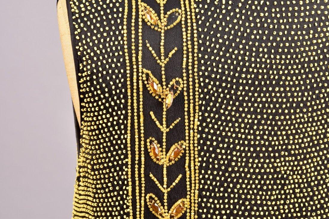 BEADED CREPE DINNER DRESS, 1920s - 4