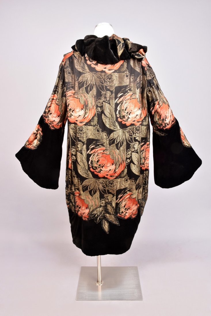 MARGAINE LACROIX METALLIC BROCADE OPERA COAT, 1920s. - 2