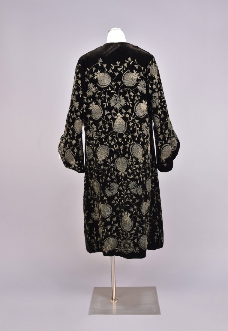 VELVET COAT with METALLIC PAINT DECORATION, 1920s - 2